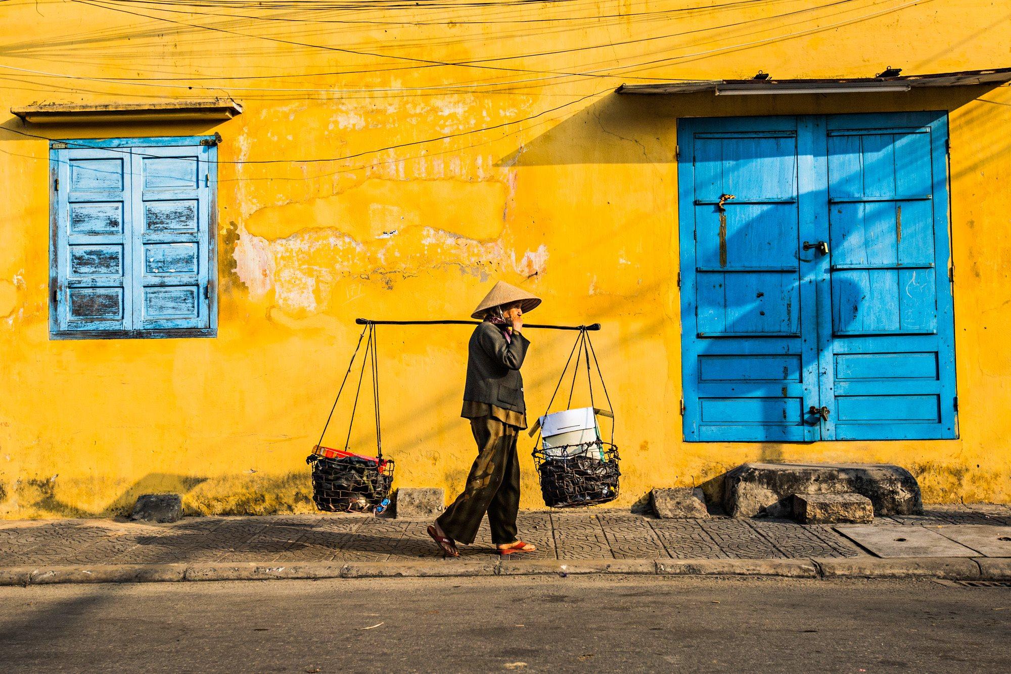Slavné žluté zdi Hoi An