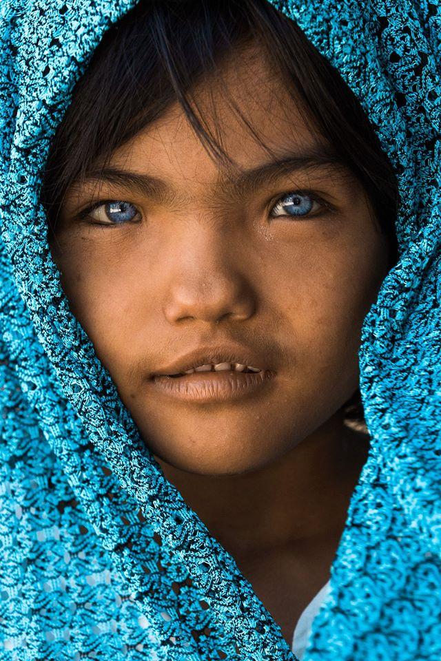 Modrooká Vietnamka z Ninh Thuan